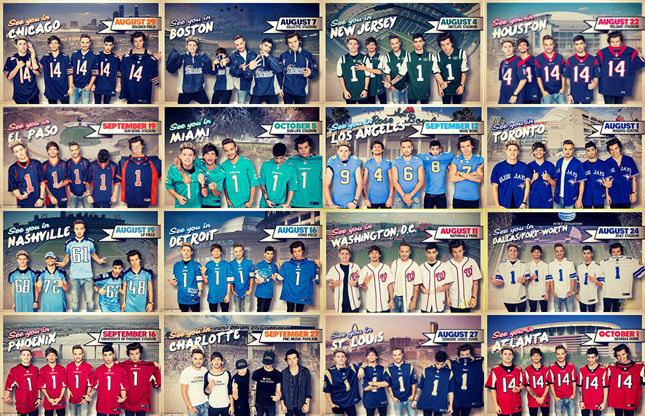 USA American Football photos of One Direction
