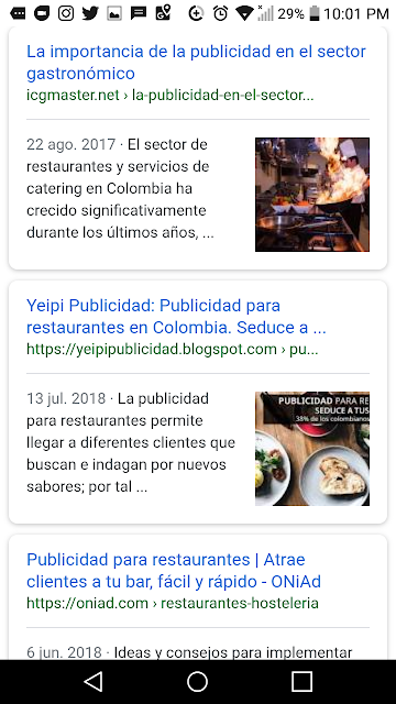 Entrada de post del blog de publicidad en restaurantes en colombia