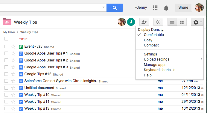 Manual Upload Settings in Google Drive - Jenny's Weekly Tip