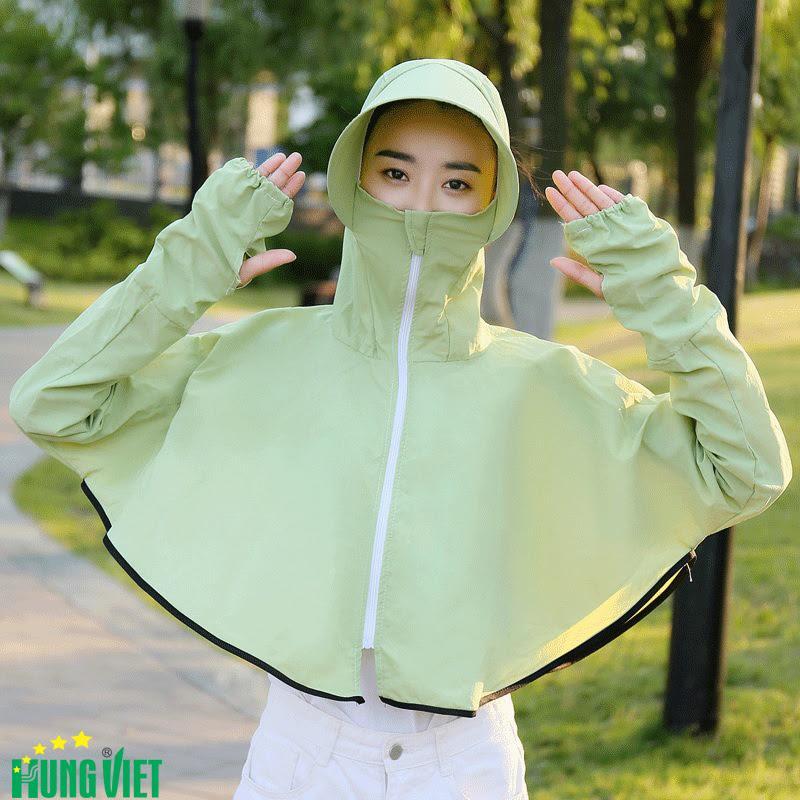 Áo chống nắng nữ chống UV vải dù lạnh