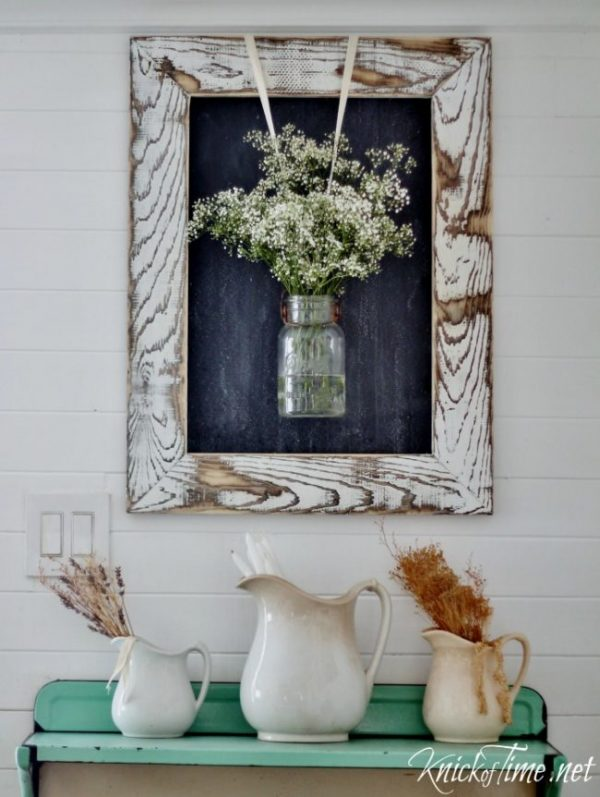 Rustic Wood Frame: These 50 Cheap & Easy Farmhouse Decor Ideas will help you save money and transform your space.