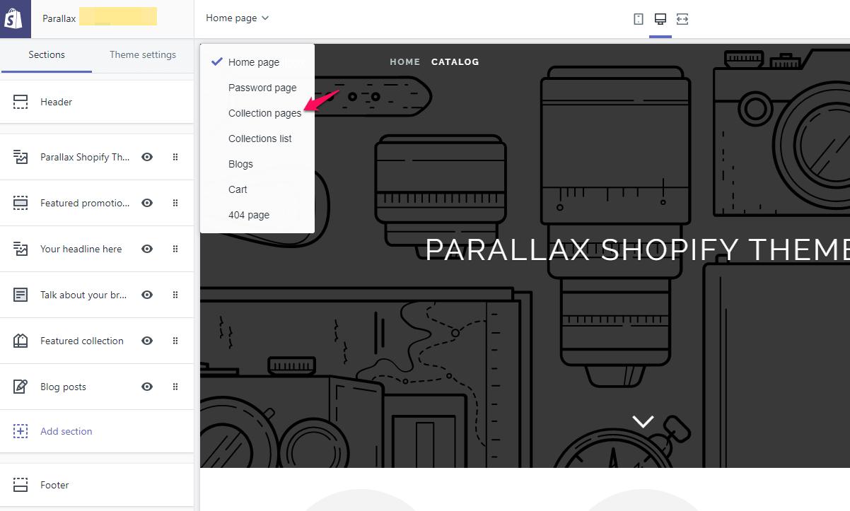 way to edit Shopify sidebar menu