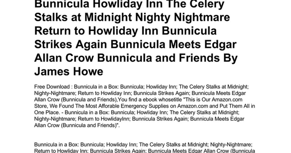 bunnicula meets edgar allan crow bunnicula and friends