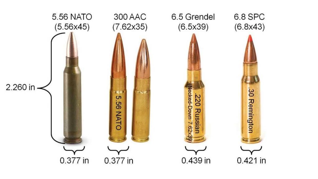 6.8 spc vs 300 blk and other 6.8 bullets