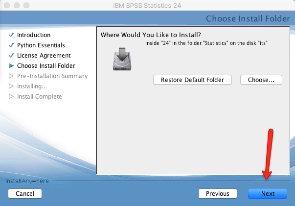 SPSS Install Location