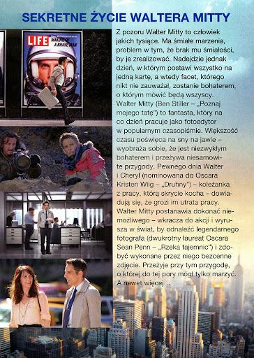 Tył ulotki filmu 'Sekretne Życie Waltera Mitty'