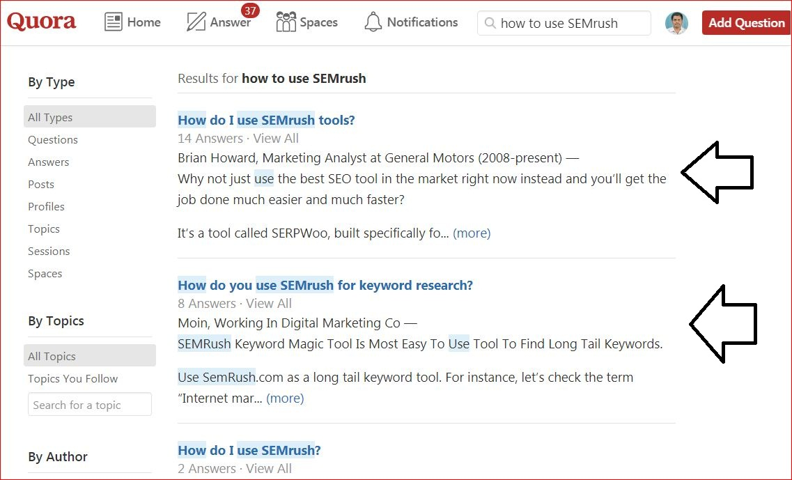 Quora For SEO - Comment utiliser SEMrush