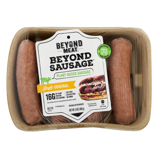 a package of beyond meat sausages