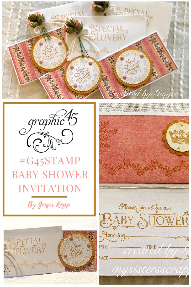 G45stamp Baby Shower Invitation Tutorial