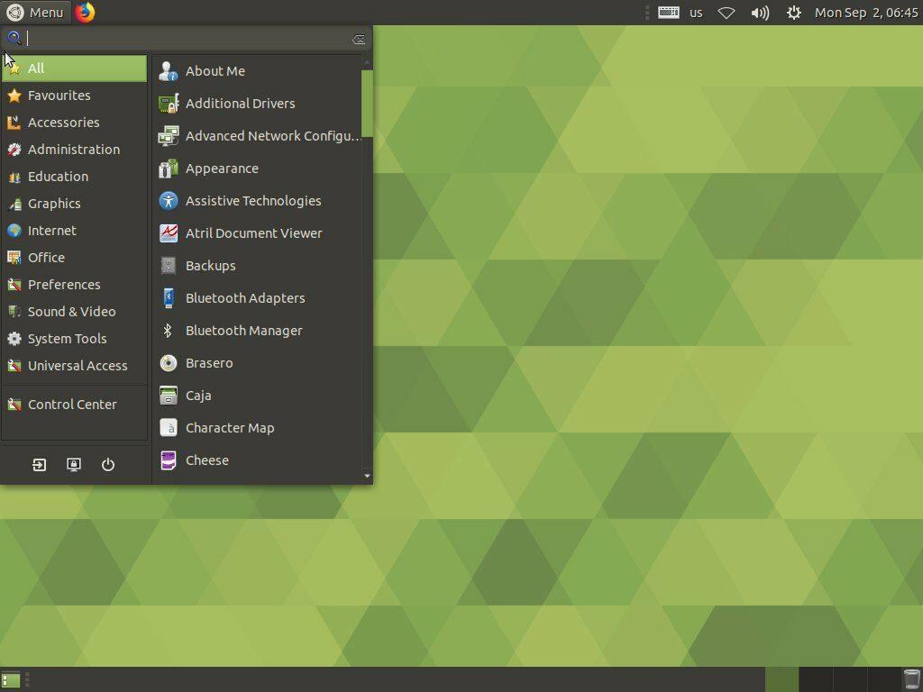 Ubuntu Mate (MATE desktop environment)