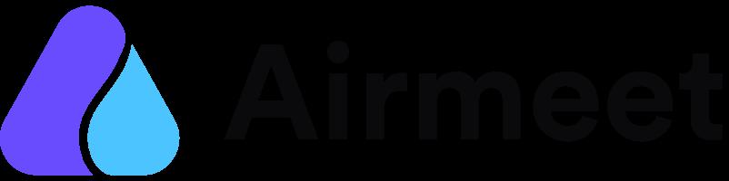 Airmeet logo webinar tool