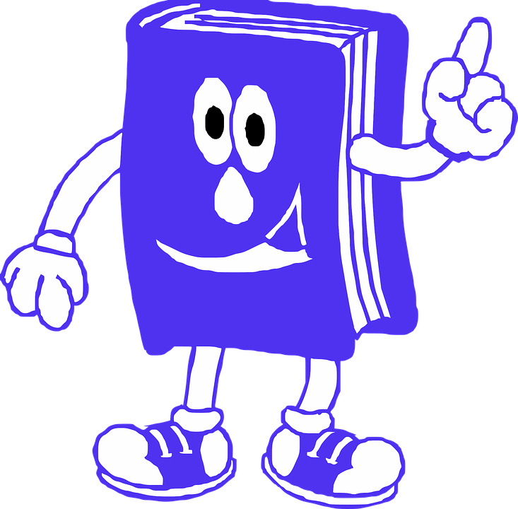 Book, Reading, Blue, Smile, ...