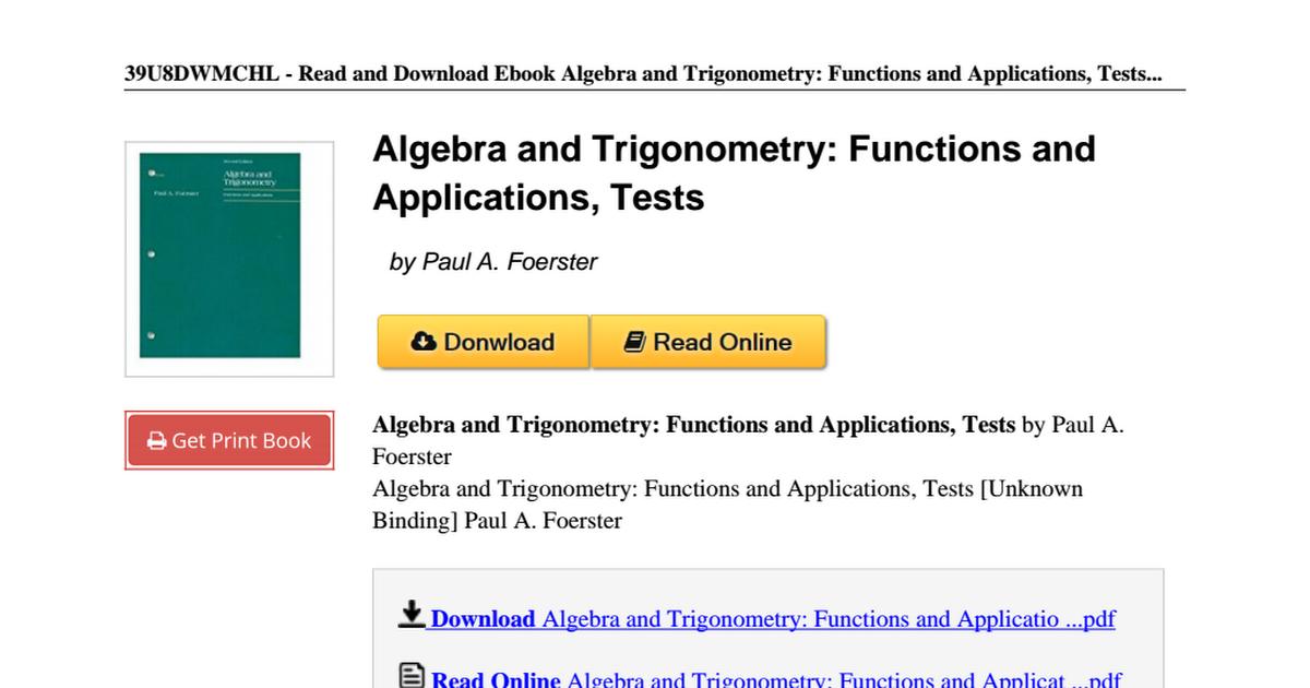 Algebra-Trigonometry-Functions-Applications-Tests-0201252880