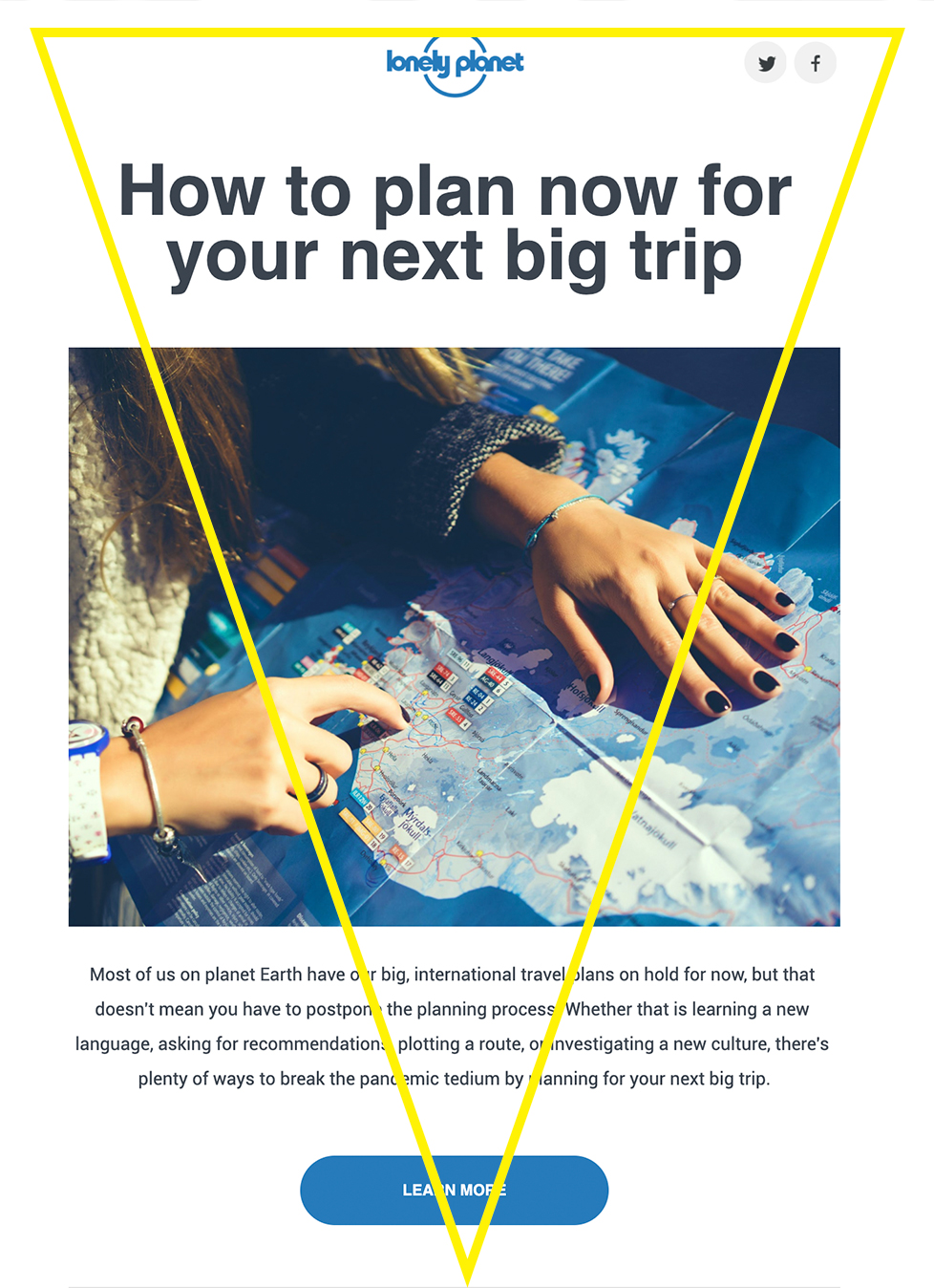 tourism marketing email