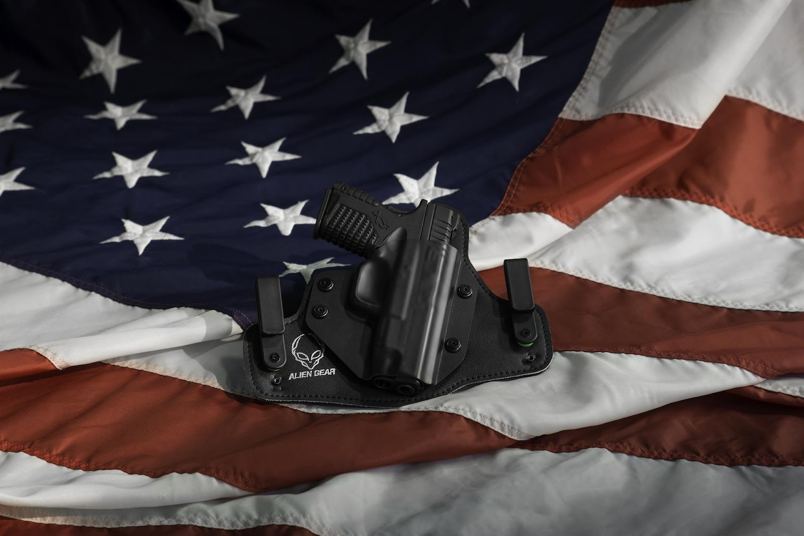 Holster on American Flag