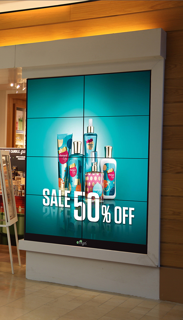 Video wall for product display. Source: AdcentsMediia - Smart Video Wall - Rev Interactive