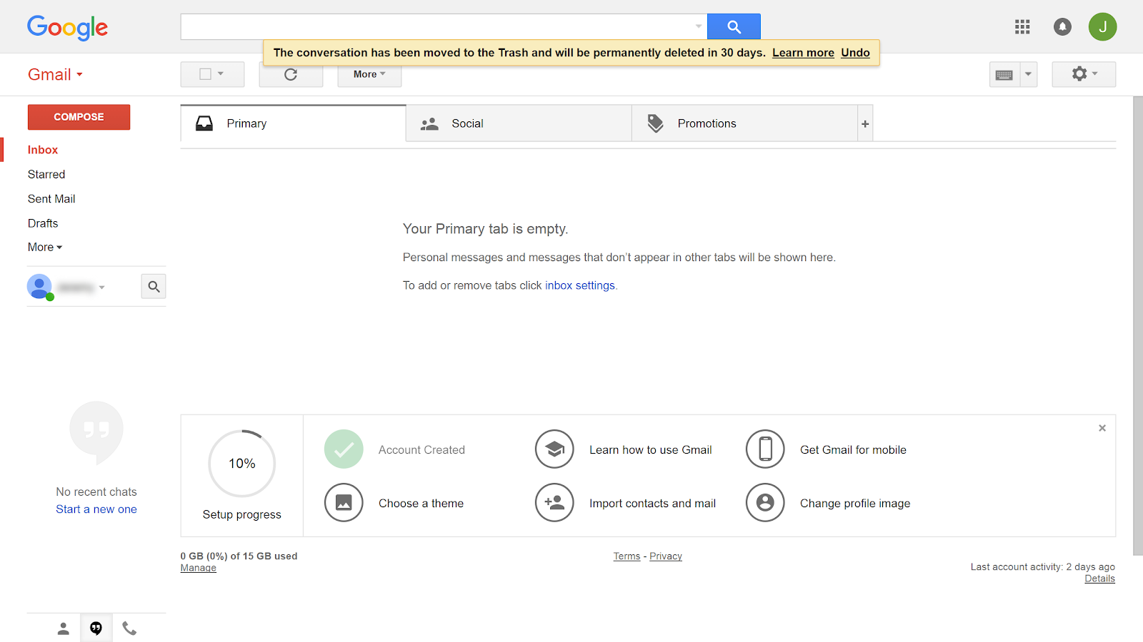 Gmail theme delete -  Let You Know That The Email You Deleted Can Be Found In Your Trash For The Next 30 Days Google Does This So Can Find Emails You Accidentally Delete