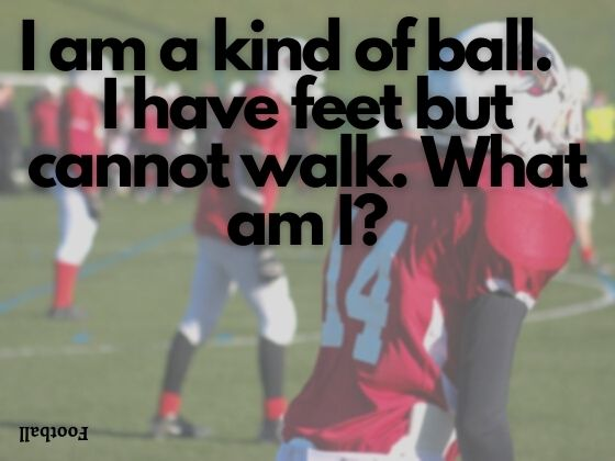 I am a kind of ball.   I have feet but cannot walk. What am I?