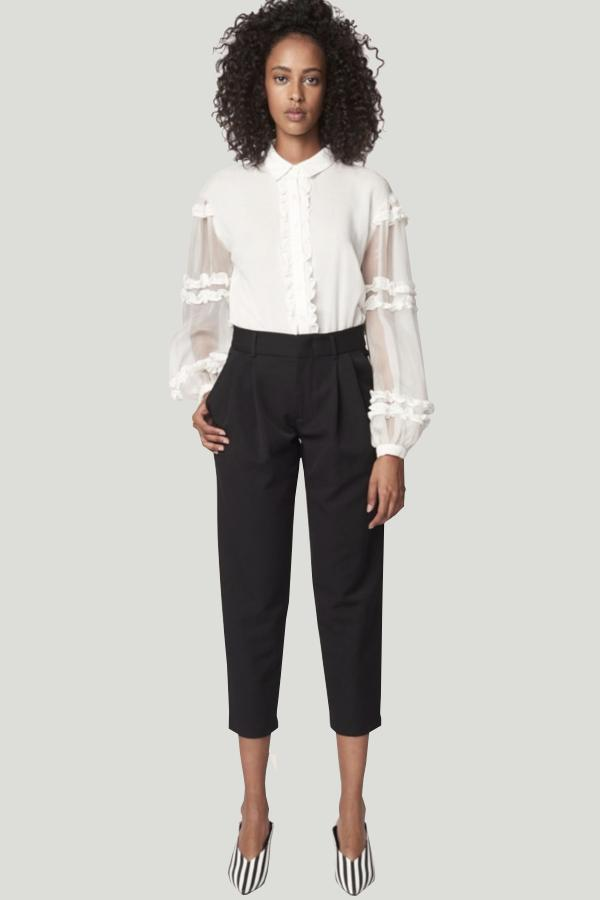 allen schwartz reeve pleated trouser pants