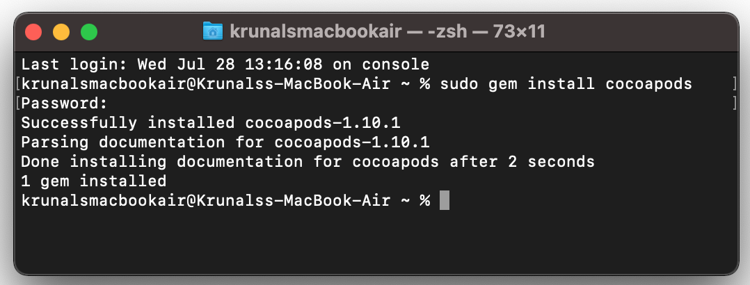 cocoapods in your system