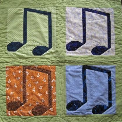Musical Notes quilt - Pattern on Bluprint