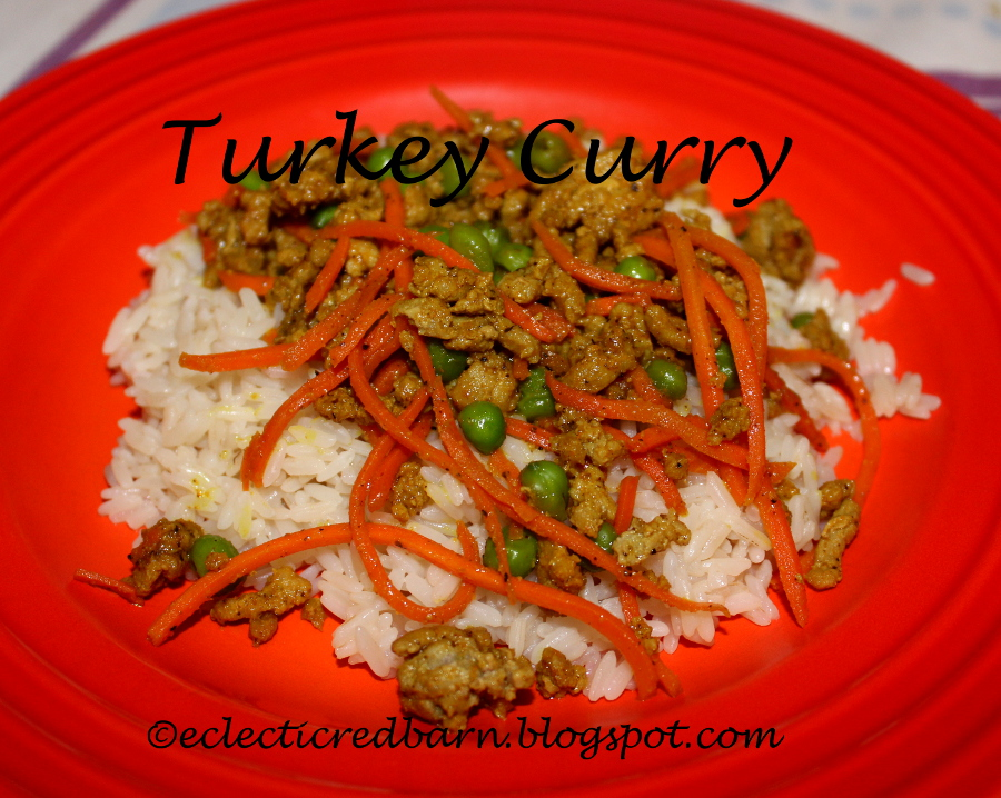 Eclectic Red Barn: Ground Turkey with Curry