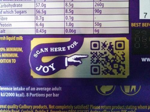 QR Codes are the opposite of joy.