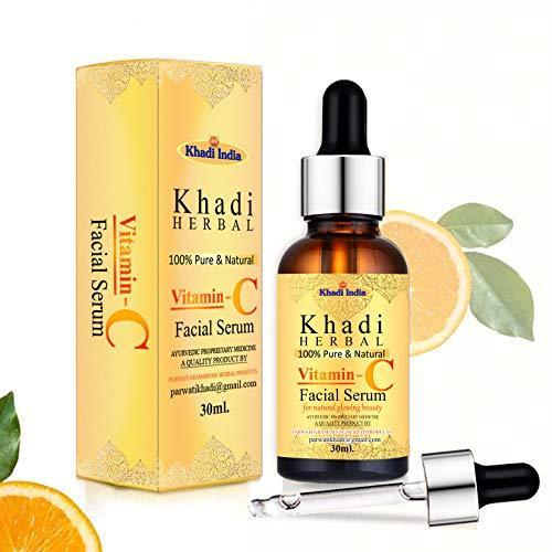 Khadi Herbal Vitamin C Serum For Natural Glowing Beauty, 30 ml: Amazon.in:  Beauty
