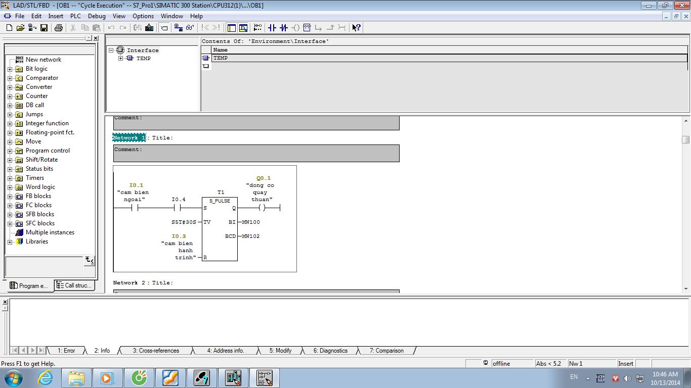 Làm việc với phần mềm PLC S7-300