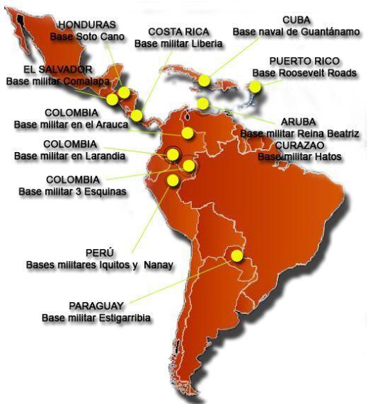 Las bases militares terrestres, aéreas y navales de EEUU en Latinoamérica •  Córdoba Global