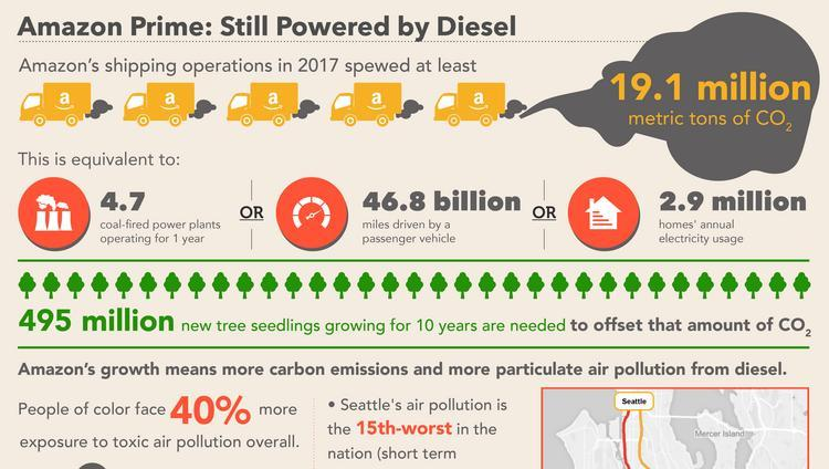 Image result for amazon carbon footprint