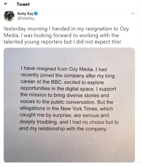 Katty Kay: Former BBC journalist quits US media firm