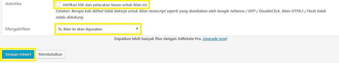 Cara Pasang Banner Iklan di WordPress - Isi AdRotate2