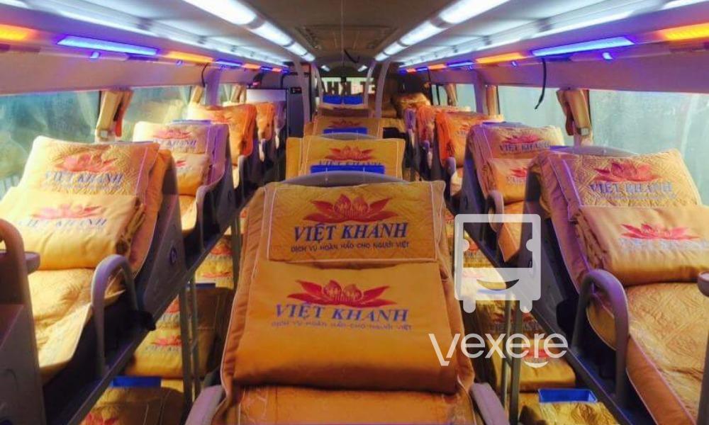 Nội thất xe Việt Khánh đi Vinh từ Hà Nội