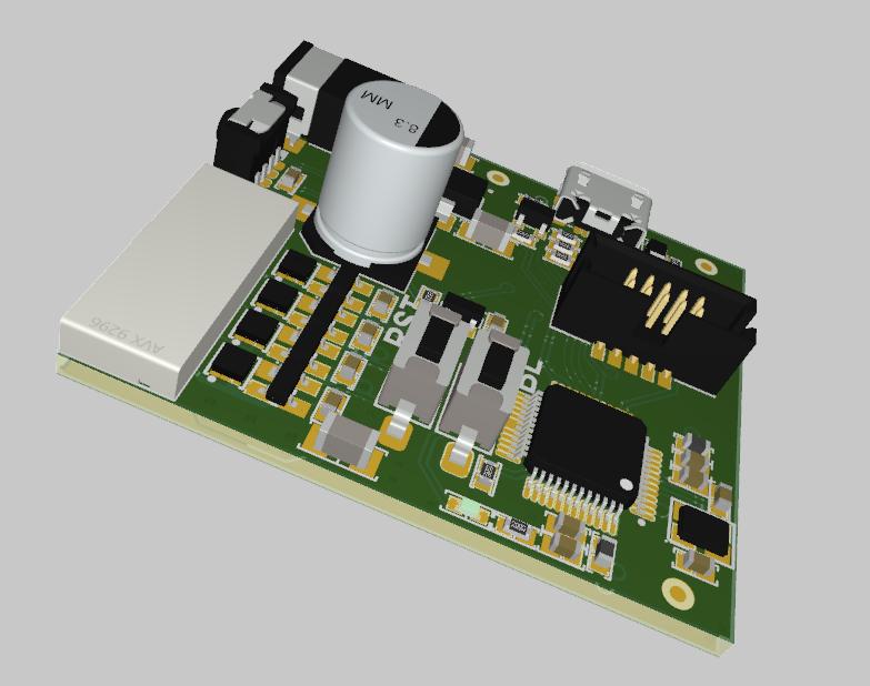 PCB design for a small circuit board