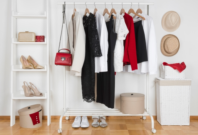 Small closet organization ideas should include getting an additional clothes rack.