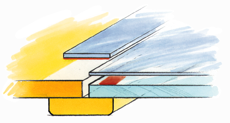 Figure 70.1 : Example drawing of a clamp structure for mounting a transparent  shielding solution