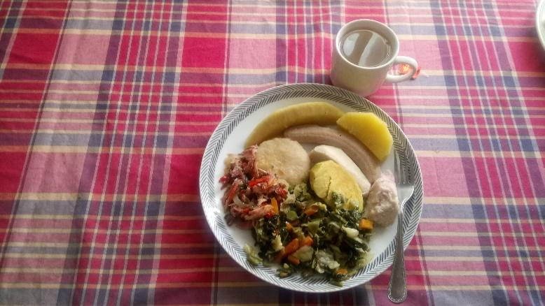 Jamaican food on a plate