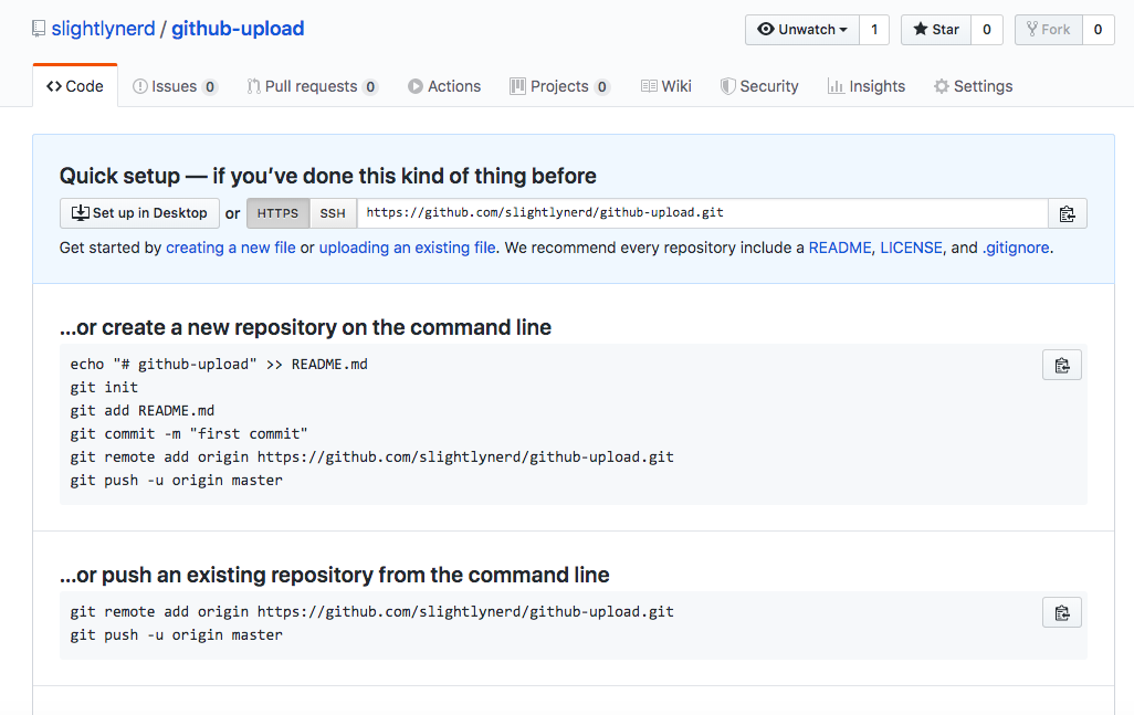 Files to GitHub from the Command Line