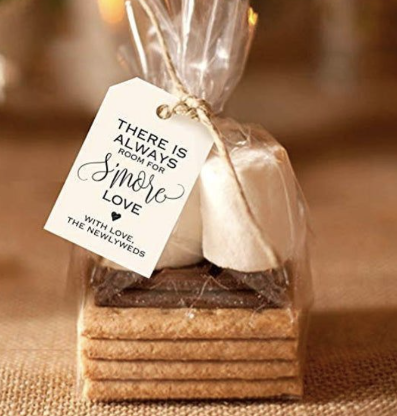 smores kit for wedding favor