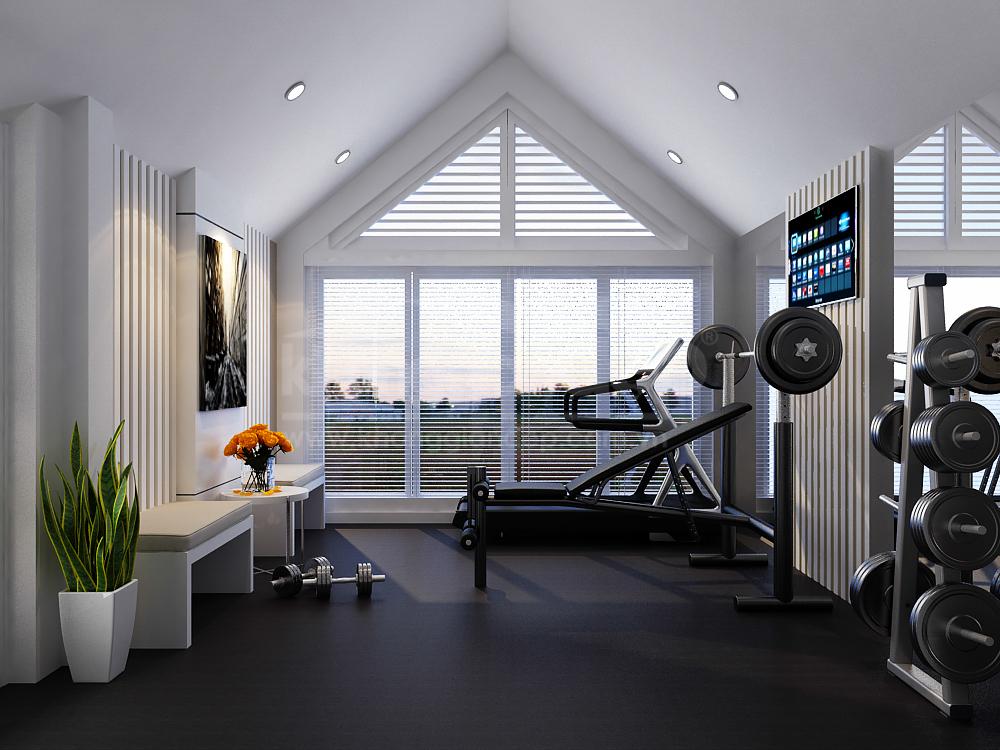 Tận dụng tầng gác mái làm phòng tập gym tại nhà