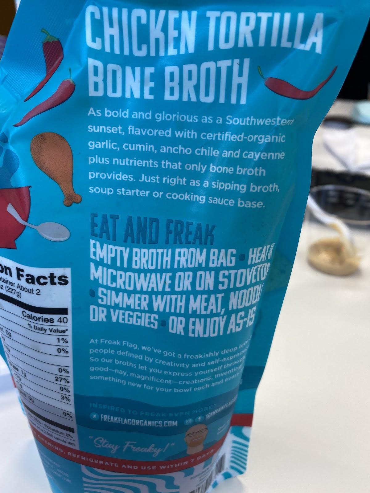 chicken tortilla bone broth bag