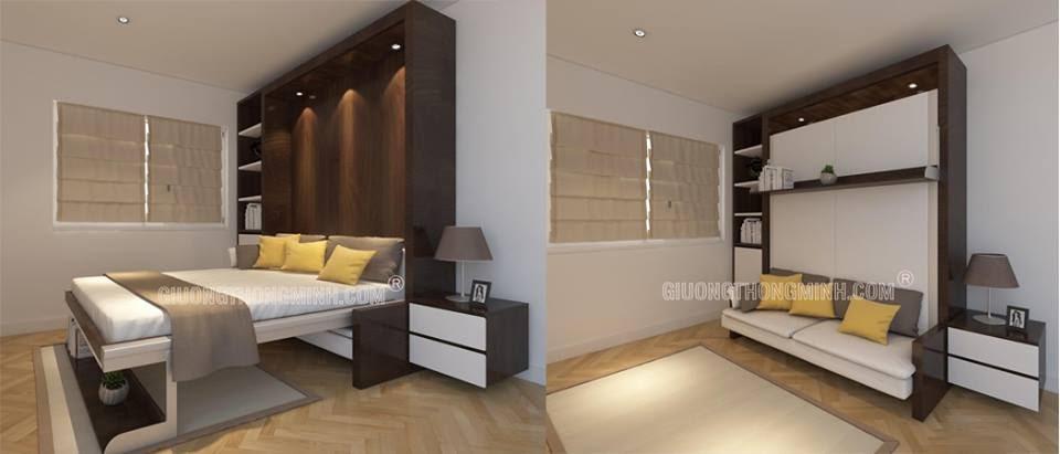 Giường úp tường là lựa chọn thông minh cho không gian nhỏ