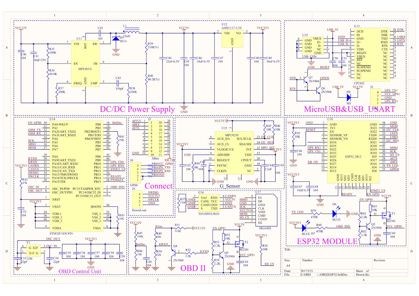 Design des Freematics ONE+ Telematiksystems