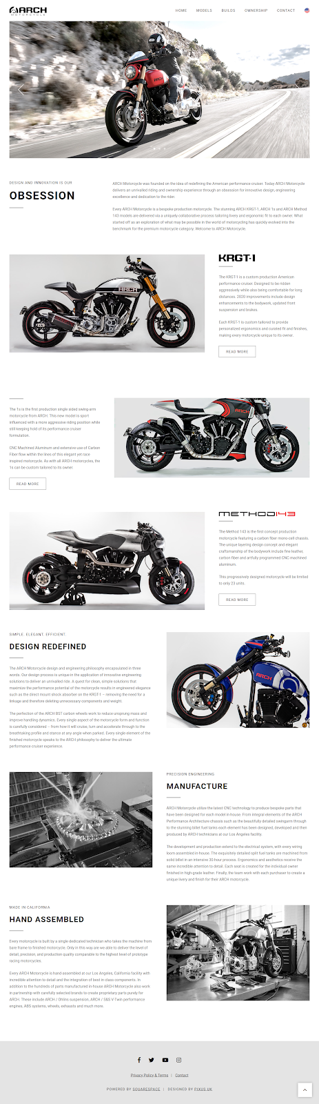Arch Motorcycle website