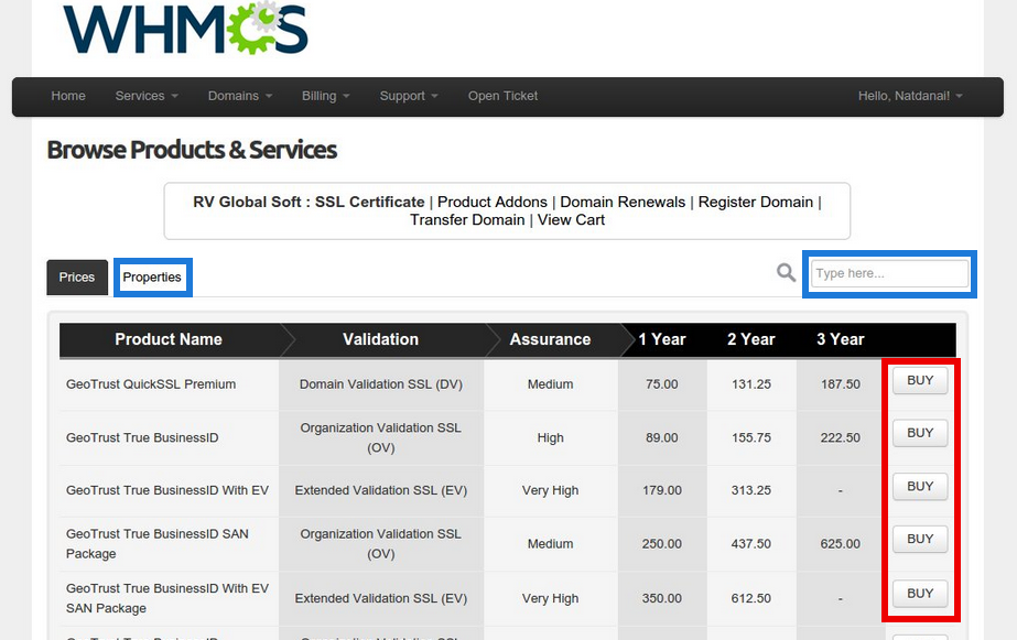 How To Order Ssl On Whmcs For End User