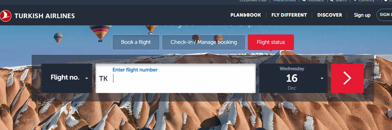 Flight no.', enter the flight no.