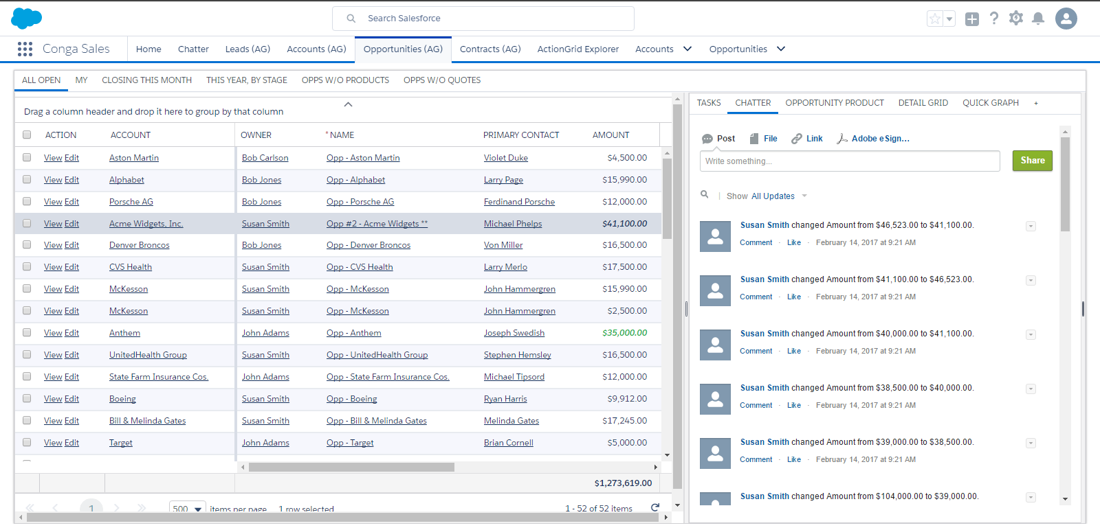 Conga Grid for Salesforce CRM: Boost sales revenue