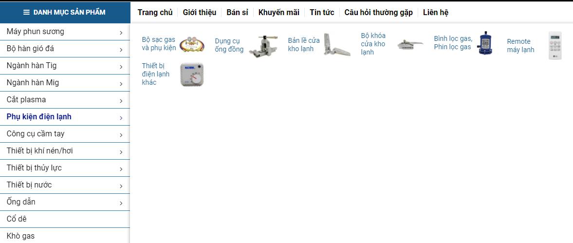 Danh mục sản phẩm phong phú, đa dạng
