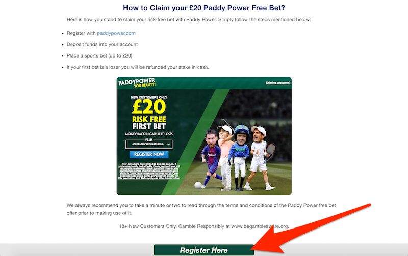 How to Register your Account with Paddy Power bookmakers.